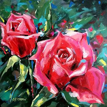 Pink Roses by Christine Karron