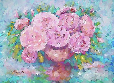 Pink Roses by OLenaArt Lena Owens