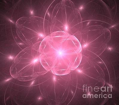 Pink Star Flower  by Kim Sy Ok