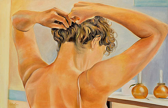 Pinning Her Hair by Kathy Harker-Fiander