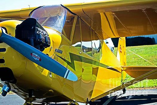 Piper Cub Front Office  by JW Hanley