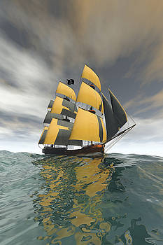 Pirate Ship on the High Seas by Carol and Mike Werner