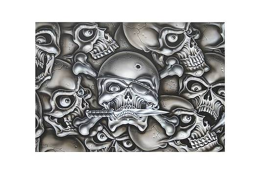 Pirate Skull by Terry Stephens