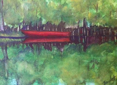 Pirogue on Bayou Lafourche by Beverly Boulet