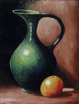 Pitcher and orange by Gene Gregory