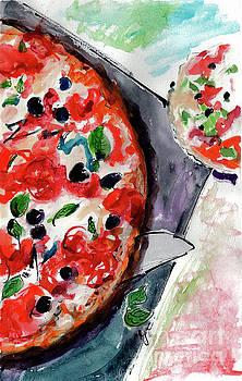 Ginette Callaway - Pizza Diptych Original Italian Food Right Half