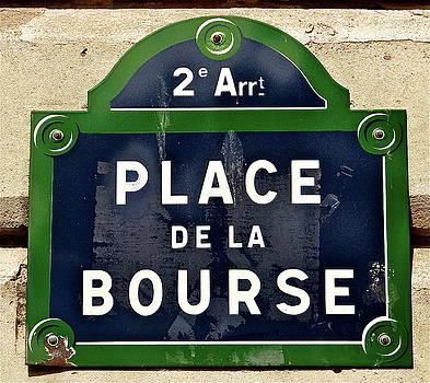 Place De La Bourse by Ira Shander
