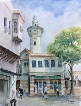 The Neighborhood  in old Damascus by Laila Awad Jamaleldin