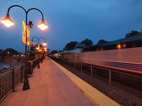 Plainfield Train Station by Valerie Morrison
