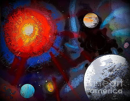 Planets and Moon Illustration Edition by Justin Moore