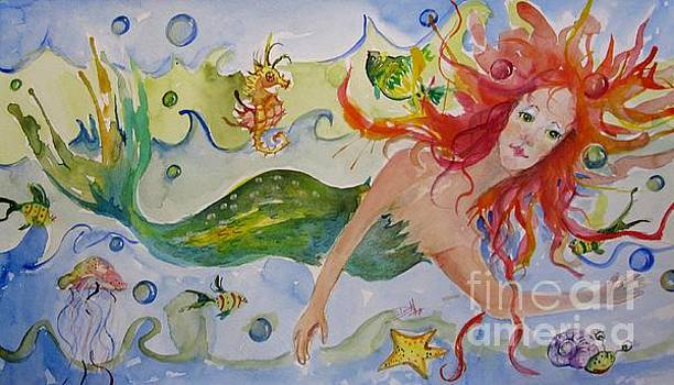 Playful Mermaid by Delilah  Smith