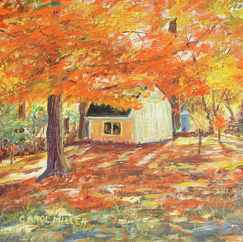 Playhouse in Autumn by Carol L Miller