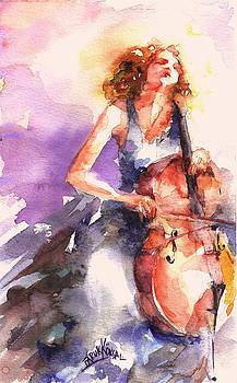 Playing Cello by Faruk Koksal