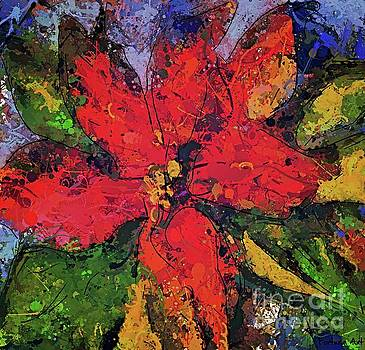 Poinsettia Christmas Flower by Dragica Micki Fortuna