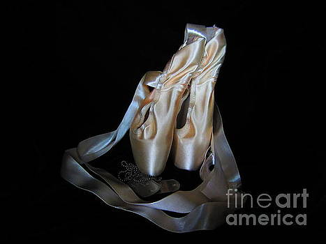 Pointe shoes and dog tags1 by Laurianna Taylor