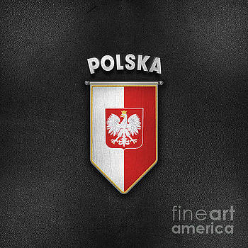 Poland Pennant with high quality leather look by Carsten Reisinger