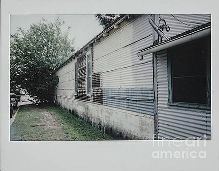 Polaroid Image-Old House in Corrugated Metal Sheeting by Greg Kopriva