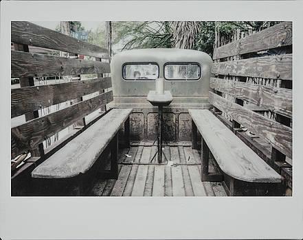 Polaroid Image-Old Truck Bench Seats by Greg Kopriva