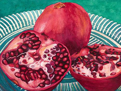 Pomegranates on a Plate by Karla Horst