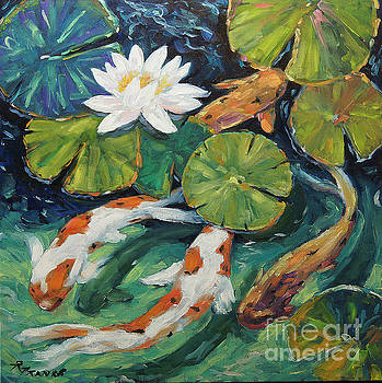 Pond Swimmers Koi by Richard T Pranke