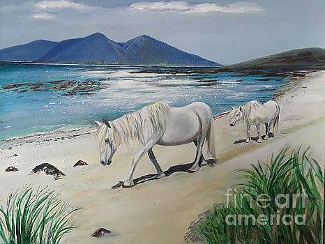 Ponies of Muck - painting by Veronica Rickard