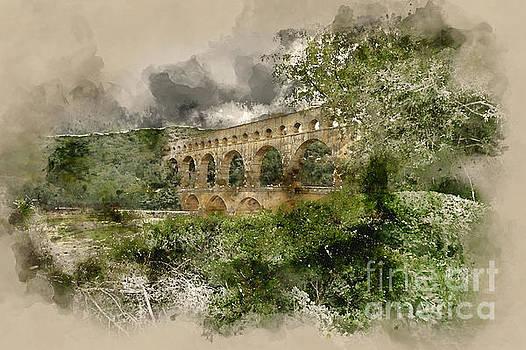 Pont du Gard France by Ann Garrett