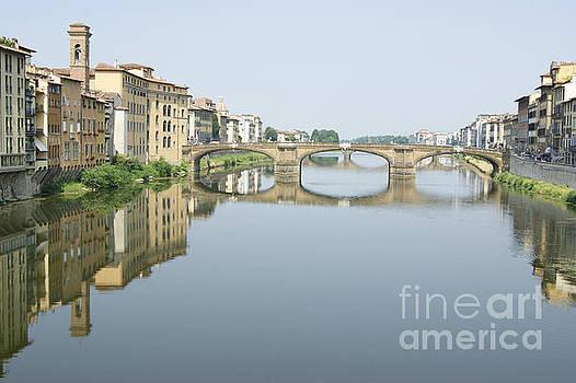 Ponte Santa Trinita on River Arno by David Birchall