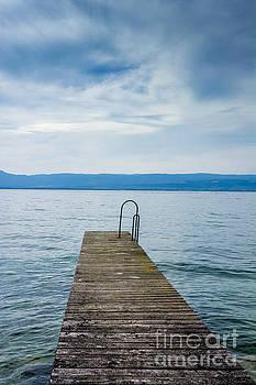 BERNARD JAUBERT - Pontoon on lake geneva. Haute-Savoie. France.