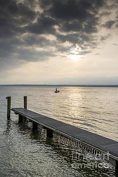 BERNARD JAUBERT - Pontoon on the lake of Geneva at sunset