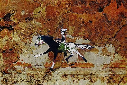 Pony Express Rider by Larry Campbell