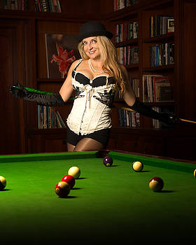 Pool Hall Girl by Kirk Shorte