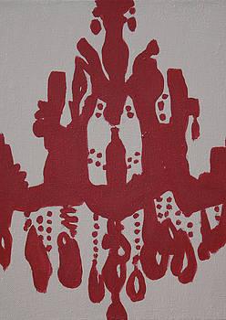 Pop Art Chanderlier Paintings-Red by Mikayla Ziegler