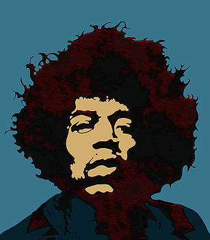 Pop Art Jimi Hendrix by Joy McKenzie
