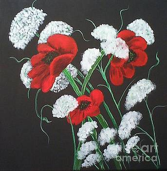 Poppies And Lace by Ginny Youngblood