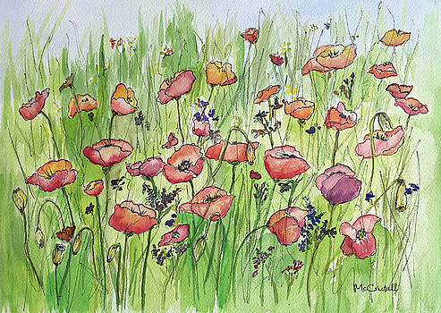 Poppies Dancing in a Field by Marion McCristall