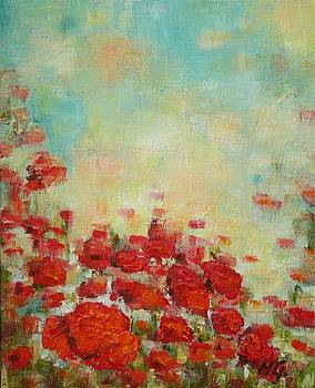 Poppies Field by Mirjana Gotovac