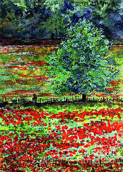 Ginette Callaway - Poppies Of Somme Watercolor