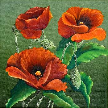 Poppies by Sherry Cullison
