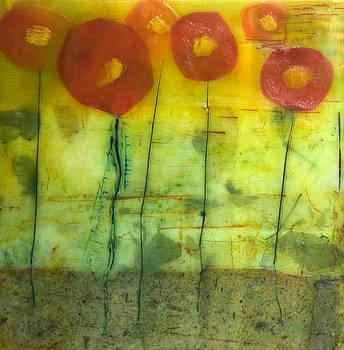 Poppy Collage2 by Dora Ficher