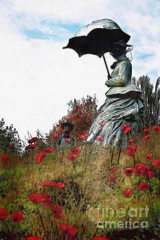Landscape- Poppy Hill by Feryal Faye Berber