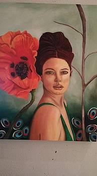 Leah Saulnier The Painting Maniac - Poppy work in progress