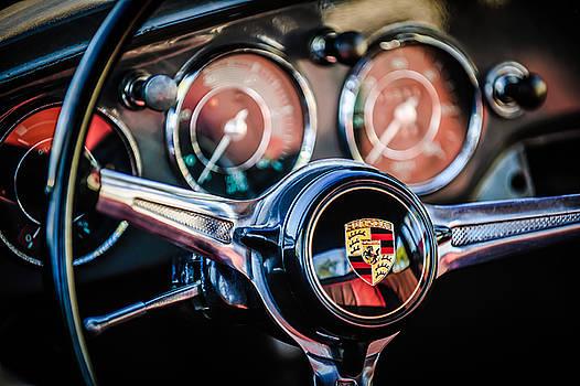Jill Reger - Porsche Super 90 Steering Wheel Emblem -1537c