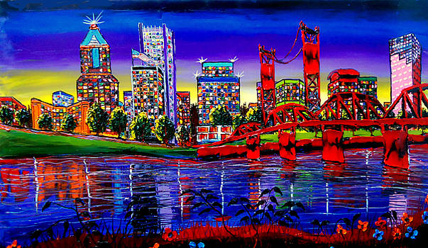 Portland City Lights 63 by Portland Art Creations