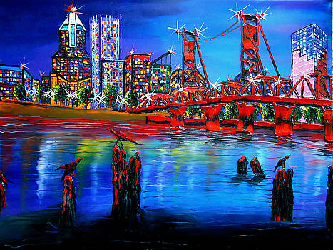 Portland City Lights #66 by Portland Art Creations