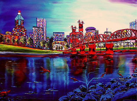 Portland City Lights #93 by Portland Art Creations