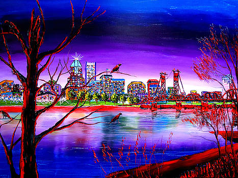 Portland City Lights #94 by Portland Art Creations