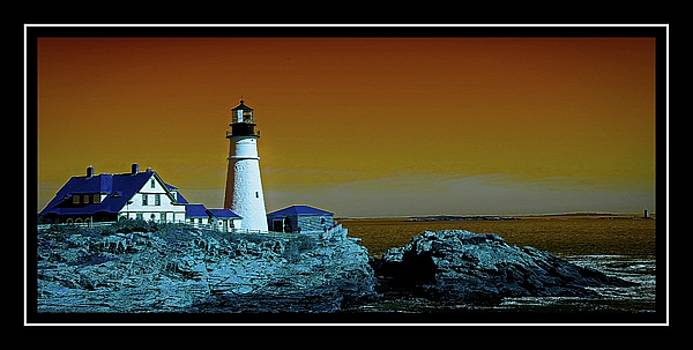 Portland Head Lighthouse Unusual Colors by Sherman Perry
