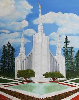 Portland OR Temple by Dorothy Merritt