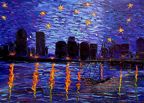 Portland Starry Night #2 by Portland Art Creations