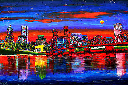 Portland Starry Night #4 by Portland Art Creations